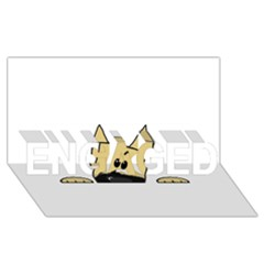 Peeping Fawn Great Dane With Docked Ears ENGAGED 3D Greeting Card (8x4)
