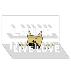 Peeping Fawn Great Dane With Docked Ears Laugh Live Love 3D Greeting Card (8x4)