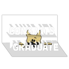 Peeping Fawn Great Dane With Docked Ears Congrats Graduate 3D Greeting Card (8x4)