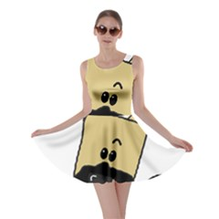 Peeping Fawn Great Dane With Docked Ears Skater Dresses