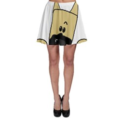 Peeping Fawn Great Dane With Docked Ears Skater Skirts