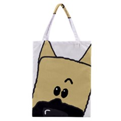 Peeping Fawn Great Dane With Docked Ears Classic Tote Bags
