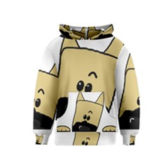 Peeping Fawn Great Dane With Docked Ears Kid s Pullover Hoodies