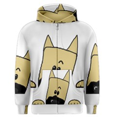 Peeping Fawn Great Dane With Docked Ears Men s Zipper Hoodies