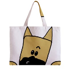 Peeping Fawn Great Dane With Docked Ears Zipper Tiny Tote Bags