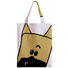 Peeping Fawn Great Dane With Docked Ears Zipper Classic Tote Bags