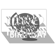 Adventure Is Out There Happy Birthday 3D Greeting Card (8x4)