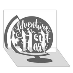 Adventure Is Out There GIRL 3D Greeting Card (7x5)