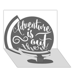 Adventure Is Out There Circle Bottom 3D Greeting Card (7x5)