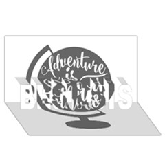 Adventure Is Out There BEST SIS 3D Greeting Card (8x4)