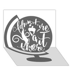 Adventure Is Out There Ribbon 3D Greeting Card (7x5)