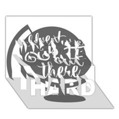 Adventure Is Out There WORK HARD 3D Greeting Card (7x5)