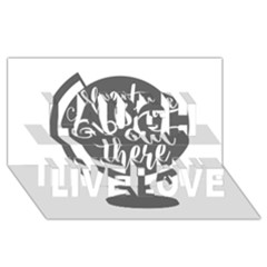 Adventure Is Out There Laugh Live Love 3d Greeting Card (8x4)