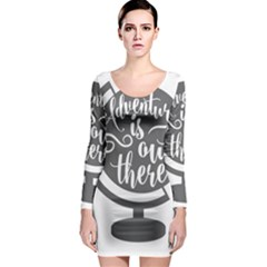 Adventure Is Out There Long Sleeve Bodycon Dresses