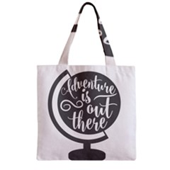 Adventure Is Out There Zipper Grocery Tote Bags