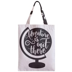 Adventure Is Out There Zipper Classic Tote Bags