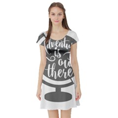 Adventure Is Out There Short Sleeve Skater Dresses