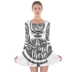 Adventure Is Out There Long Sleeve Skater Dress