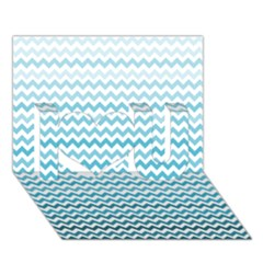 Perfectchevron I Love You 3D Greeting Card (7x5)
