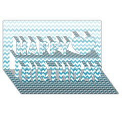 Perfectchevron Happy Birthday 3d Greeting Card (8x4)