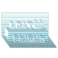 Perfectchevron Best Friends 3D Greeting Card (8x4)