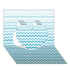 Perfectchevron Heart 3D Greeting Card (7x5)