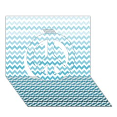 Perfectchevron Peace Sign 3D Greeting Card (7x5)
