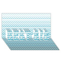 Perfectchevron BEST SIS 3D Greeting Card (8x4)