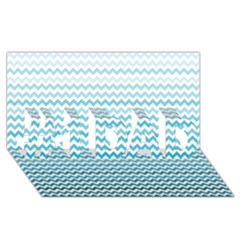 Perfectchevron #1 Dad 3d Greeting Card (8x4)