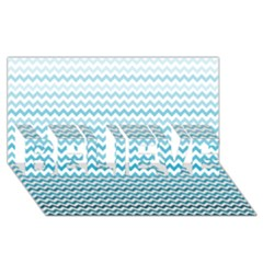 Perfectchevron Believe 3d Greeting Card (8x4)