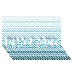 Perfectchevron ENGAGED 3D Greeting Card (8x4)