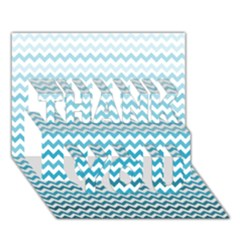 Perfectchevron THANK YOU 3D Greeting Card (7x5)