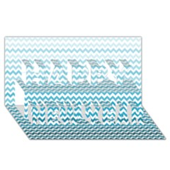 Perfectchevron Happy New Year 3d Greeting Card (8x4)