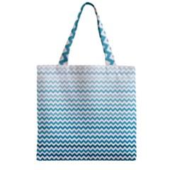 Perfectchevron Zipper Grocery Tote Bags