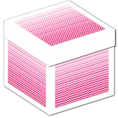 Pink Gradient Chevron Storage Stool 12