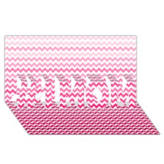 Pink Gradient Chevron #1 MOM 3D Greeting Cards (8x4)