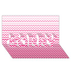 Pink Gradient Chevron SORRY 3D Greeting Card (8x4)