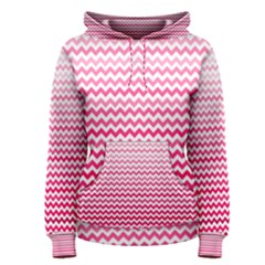 Pink Gradient Chevron Women s Pullover Hoodies
