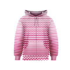 Pink Gradient Chevron Kids Zipper Hoodies