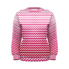 Pink Gradient Chevron Women s Sweatshirts