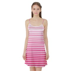 Pink Gradient Chevron Satin Night Slip