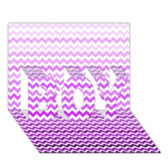 Purple Gradient Chevron BOY 3D Greeting Card (7x5)