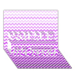 Purple Gradient Chevron YOU ARE INVITED 3D Greeting Card (7x5)