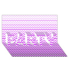 Purple Gradient Chevron PARTY 3D Greeting Card (8x4)
