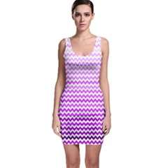 Purple Gradient Chevron Bodycon Dresses