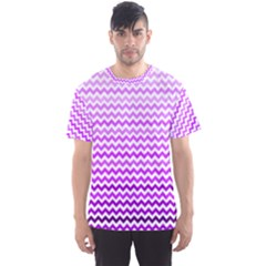 Purple Gradient Chevron Men s Sport Mesh Tees