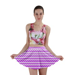 Purple Gradient Chevron Mini Skirts