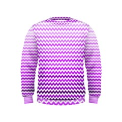 Purple Gradient Chevron Boys  Sweatshirts