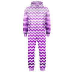Purple Gradient Chevron Hooded Jumpsuit (Men)