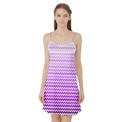 Purple Gradient Chevron Satin Night Slip
